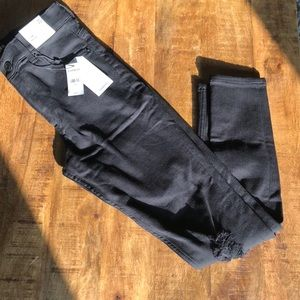 Express Hi Rise BlackDistressed Jeans